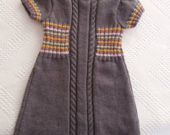 Dress 4 years old in purple wool