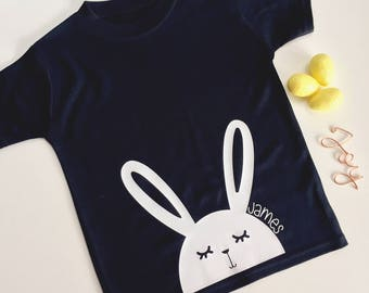 Easter for kids etsy black personalised easter kids tshirt easter gift negle Image collections