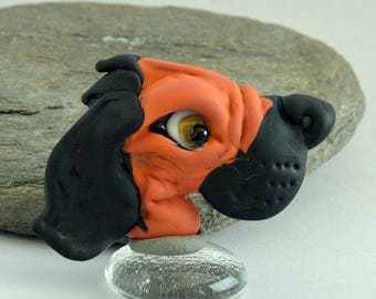 DOG  Glass Sculpture Collectible, Focal Bead, Pendant, Izzybeads SRA