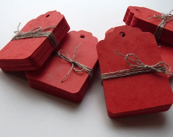 medium size marbled red plain heavy card price hang gift tags