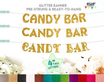 Candy Bar Banner, Sweet Bar Banner, Treats Banner, Sweet Table Decor, Candy Bar Sign, Dessert Bar Banner, Dessert Bar Sign, Candy Buffet
