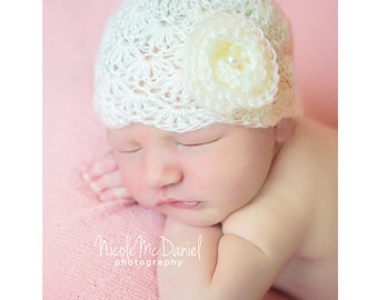 Baby girl Hat - Newborn Girl Hat - Baby Shower Gift - Infant hat- Baby girl hats - Newborn Photo Prop - Coming Home Outfit - Baby Gift