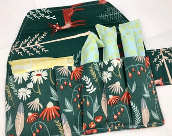 Privacy Pouch - Green Tampon Case - Sanitary Pad Case - Pad Pouch - Tampon Bag - Tampon Holder - Wild Gatherings in Spruce Green