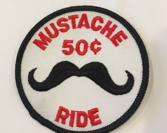 Moustache 50cent Ride Risque Vintage Rare Retro L@@K