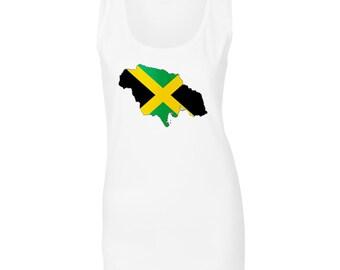New Jamaica Flag Travel World Ladies Tank Top m144ft