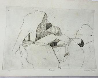 Rocks- etching print