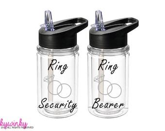 Ring Bearer Gift - Ring Security Gift, Ring Bearer Bottle, Ring Security Bottle - Ring Bearer Gift Ideas (BT0007)