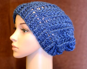 Lovely Blue Slouchy/Stocking cap