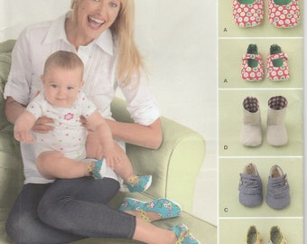 Shoe Pattern Mommy and Baby Matching Shoes Uncut Misses and Infant Sizes  Simplicity 2278