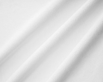 Minky Fabric Snow White Cuddle 3mm
