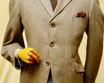 """Fab 60's 'Man at Ease' jacket with inverted pleat. 44"""" nb converted 2-3 button"""