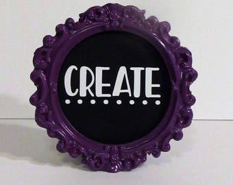 Chalkboard Standing Frame, Create
