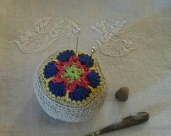 Vintage Lavender heart Pincushion