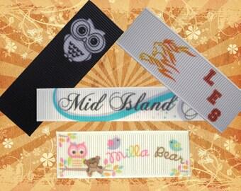 Grosgrain Sew-in Labels - Custom Printed