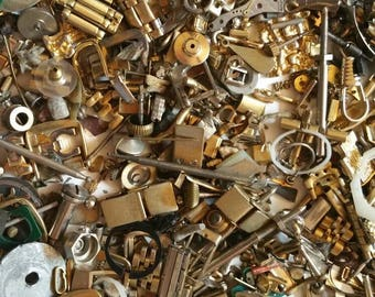 Assorted Vintage Watch Stems, Pieces, Bezels, Pins, Etc. Approximately 100 Pieces.