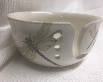 Ceramic yarn bowl