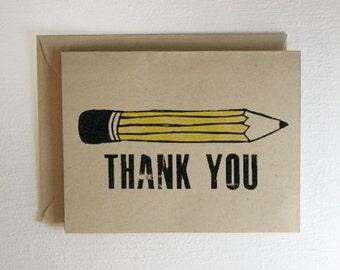 Pencil Thank You Card