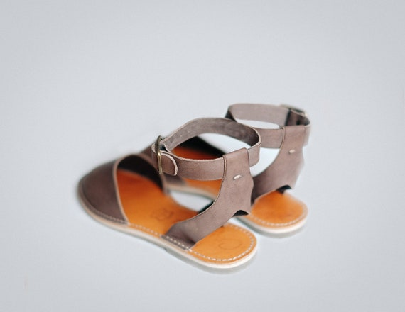 Adjustable Ankle Leather Sandals Slip Summer Ankle Sandals Flat Strap Flats Shoes Women's Shoes Ons Leather Sandals Sandals Strap 44wBZrEnx