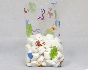 Free Ship 25 Baby Jungle Animals  Cellophane Bags, Great for Baby Showers and Birthday Parties!