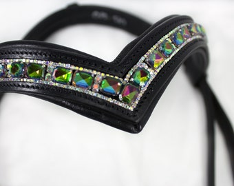 English Browband | Dressage Browband | Bling Browband | V Shape Browband | Horse Size Browband | Browband Jewelry