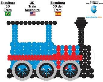 3D Train Sculpture