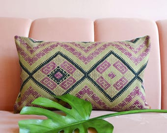 Chinese Wedding Blanket Pillow, Wedding Blanket Pillowcover, Embroidered Pillow, Antique Wedding Blanket, Embroidered Pillow, Boho Pillow