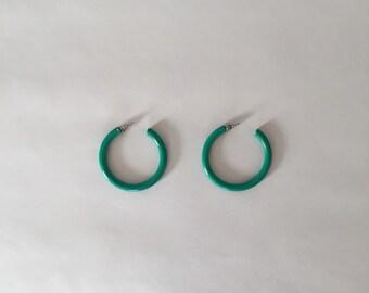 Arceaux menthe | Boucles d'oreilles métal neuf