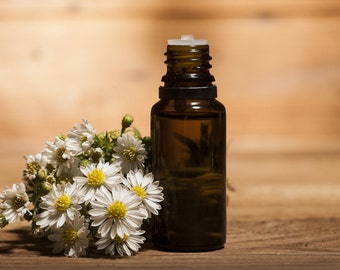 Organic Chamomile German Nepal, Marticana chamomilla L. Essential Oil, Pure Certified Organic German Chamomile Essential Oil, Anti-Anxiety