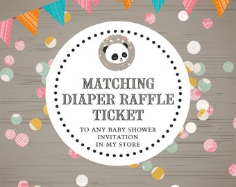 Matching Diaper Raffle Ticket