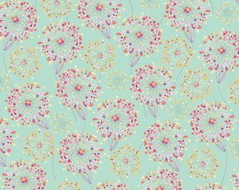 Quilting Treasures - Confetti Blossoms - Confetti Blossoms Packed - Med Seafoam - Fabric by the Yard 26234-H