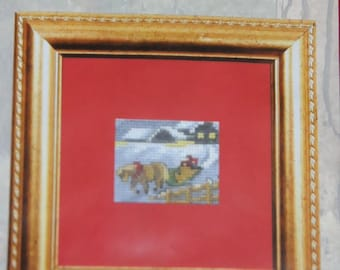 "mini kit counted cross stitch ""sled"""