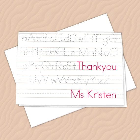 personalized notecards, thank you cards, teacher thank you cards, graduation thank you cards, 4x6 notecards, teacher appreciation, NC125