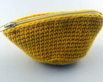 Yellow purse and African fabric