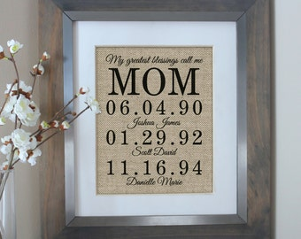 Mother of the Bride Gift Birthday Gift for Mom | Mom Wall Art Home Decor Gift Mom | Personalized Gifts for Mom Mother of the Bride Gift
