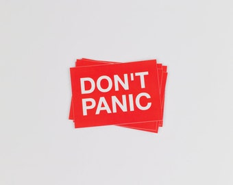 Don't panic sticker Laptop Hitchhiker's Guide Hitchhiker's Universe