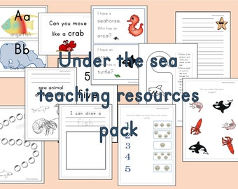 under the sea teaching resources pack, eyfs resources, teachers resources, ocean preschool activity, reception,nursery,early years resources