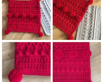 Pompom Cushion Crochet PDF pattern