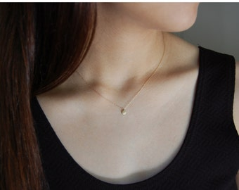 Dainty Gold Necklace 14K Gold Nugget Necklace Solid Gold Necklace Minimalist Gold Necklace Gold Nugget Jewelry