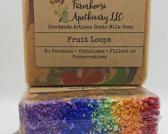 Fruit Loops-Handmade Artisan Goats Milk Soap-Cold Process Soap