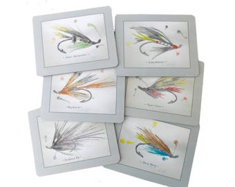 Fishing Fly Table Mats