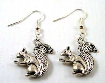 Squirrel Earrings - Animal Earrings - Nature Earrings - Wildlife Earrings