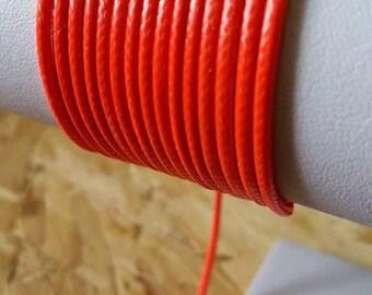 Orange 2mm leather cord
