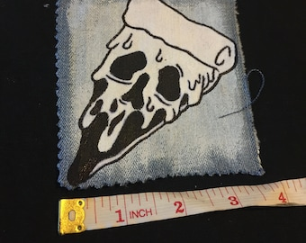 pizza skull patch