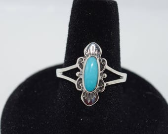 Turquoise Ring set in Sterling Silver, Size 9