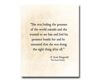 F. Scott Fitzgerald Quote Love Romantic Quote Golden Quote Inspirational Quote Anniversary Print Literary Quote The Great Gatsby