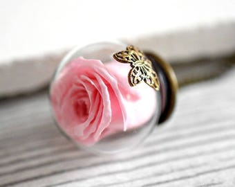 """Real Rose """"Summer III"""" Necklace (VIK-27)"""