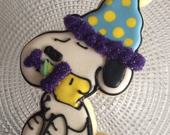Snoopy Birthday Celebration cookie