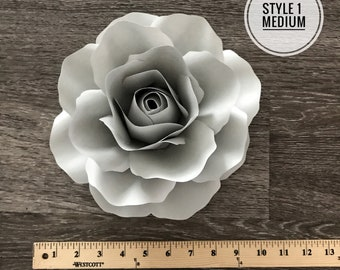 SVG Style 1 Medium Rose Template