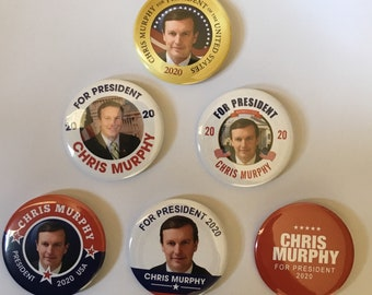 Chris Murphy For President Set of 6 Campaign Buttons (MURPHY-ALL)