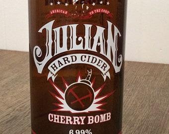 Julian Hard Cider Cherry Bomb Beer/Cider Bottle Pint Glass